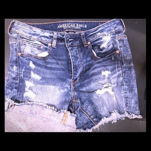 American Eagle Distressed Shorts. Size 8.